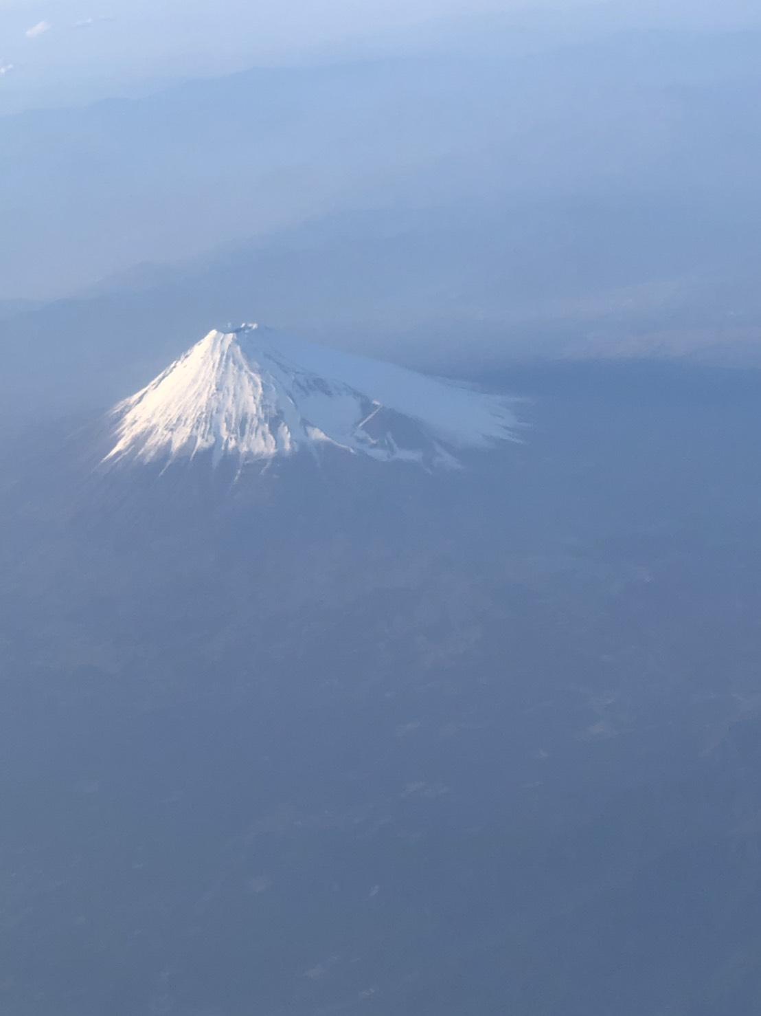 図3 飛行機から撮影した富士山
