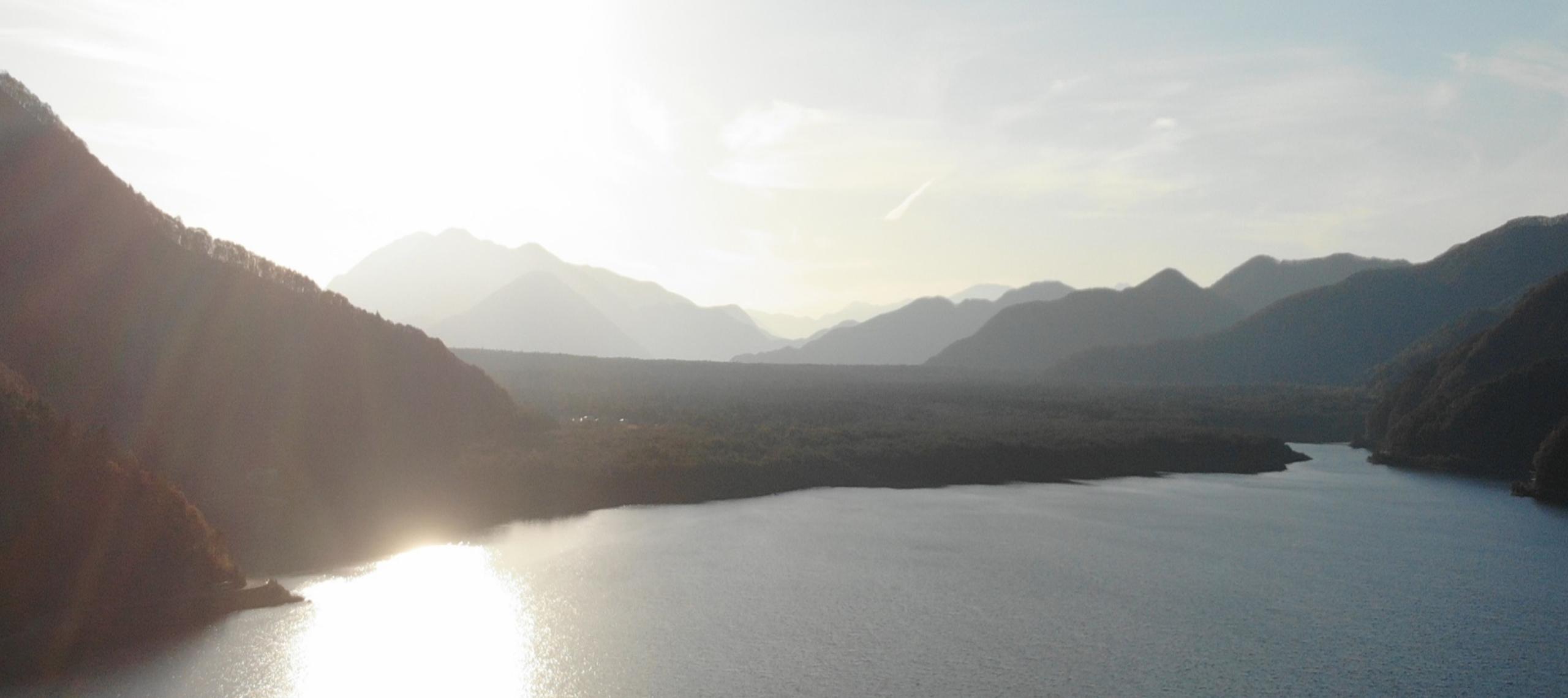 図10 西湖空撮映像(高度約80m)