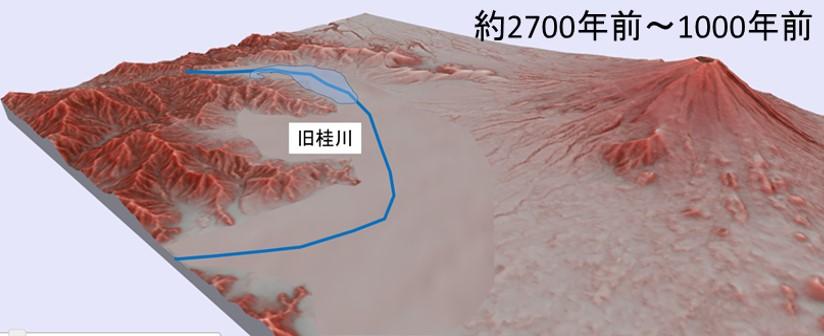 図11 山中湖形成以前のイメージ図