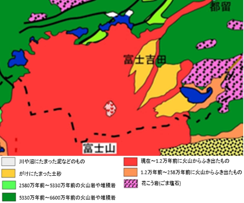 図2 地質図簡易版